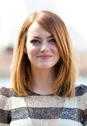 Long Bob for round face types -