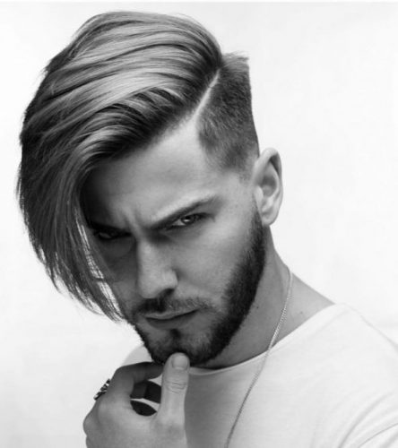 Side-Swept long hair with undercut - long hairstyles for men