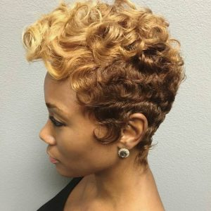 Spiral Ombre Hairstyle - short hairstyles black women