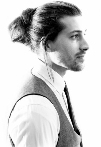 Twist-in Bun - long hairstyles for men
