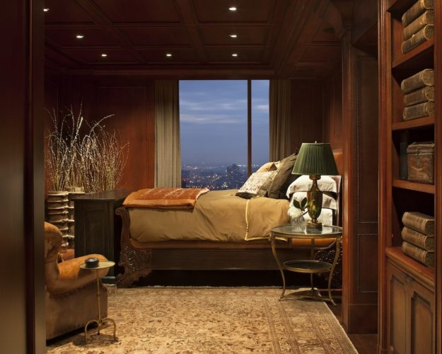 The man den - modern contemporary masculine bedroom