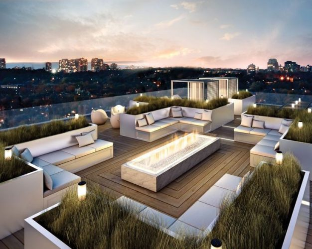 The romantic terrace-Rooftop Terrace Design