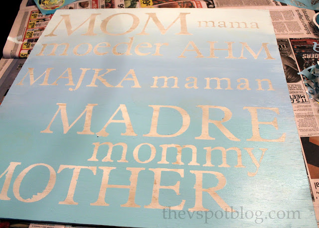 Ombre Mother's Day Art-DIY Ombre Projects