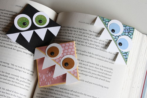 Paper Monster Bookmark - creative diy bookmark ideas