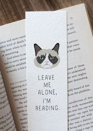 Grumpy Cat Bookmark - creative diy bookmark ideas