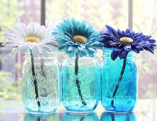 Ombre Tinted Mason Jars