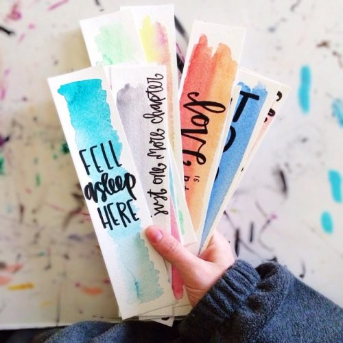 Watercolour Bookmark - creative diy bookmark ideas