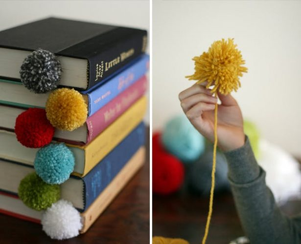 Yarn Ball Bookmark - creative diy bookmark ideas