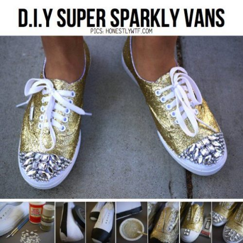Sparkly Vans Shoes - fabulous shoe makeovers