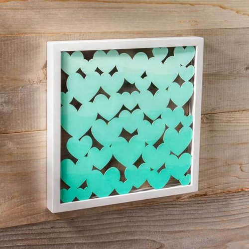 Ombre Heart Shadow Box-DIY Ombre Projects
