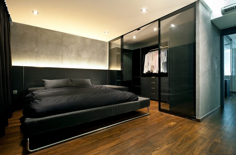 Dream man closet attached - modern contemporary masculine bedroom