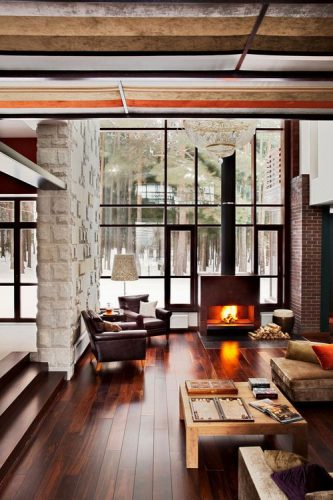 Fireplaces with chute
