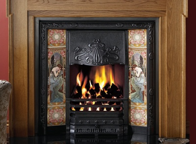 Traditionally designed fireplace