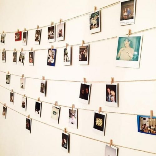 Polaroid display - creative gallery wall ideas
