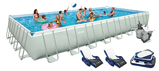 "The Intex 8' x 26"" Easy Set Above Ground Ring Swimming Pool Set"