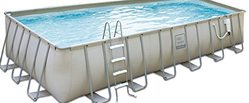 "Rectangle Above-Ground Soft Sided Pool Package - 9'W x 18'L x 52""D"