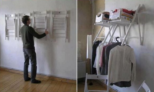 The chair closet idea - Cool Closet Design