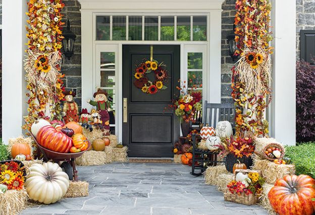 Exterior decorations for autumn - fall decorating ideas
