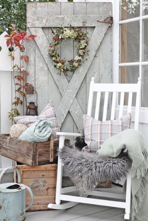 The simple vintage style - fall decorating ideas