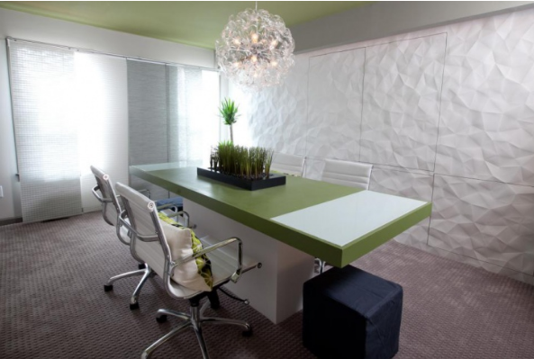 White walls and sophistication - modern conference room design ideas