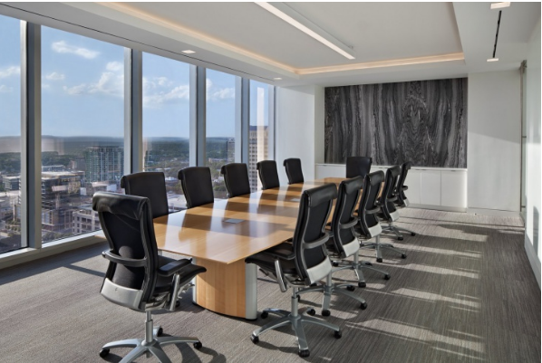 The black and white style - modern conference room design ideas