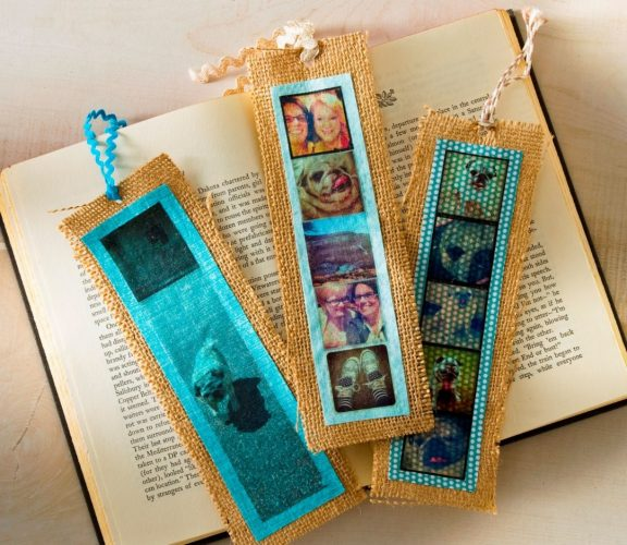 Burlap Photo Bookmark