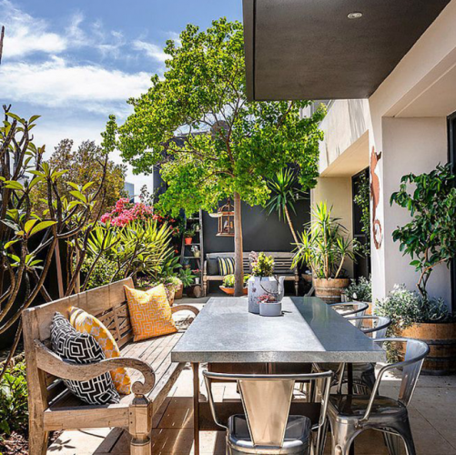 The cool terrace