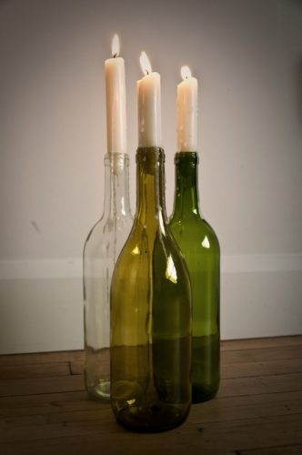 Candle Stand Wine Bottle