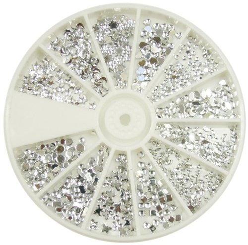 Silver Moon Rhinestone Pack Of 1200 Crystal Premium Quality - amazing nail art designs