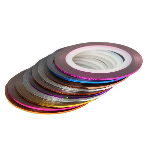 30 Pcs Mixed Color Rolls Striping Tape Line Art Decoration Sticker From Y2B - amazing nail art designs