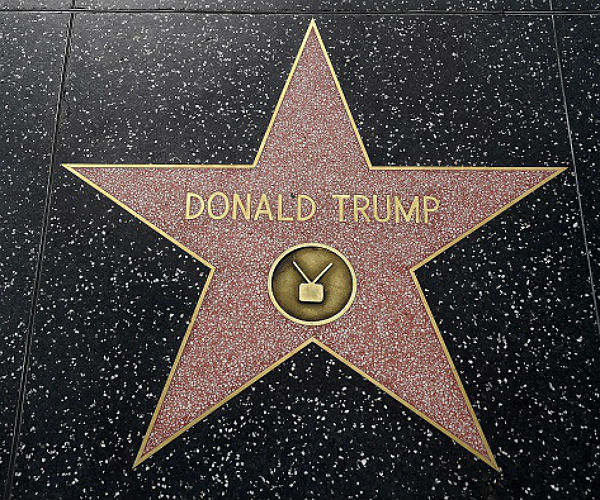 The Donald has a Star on the Hollywood walk of fame