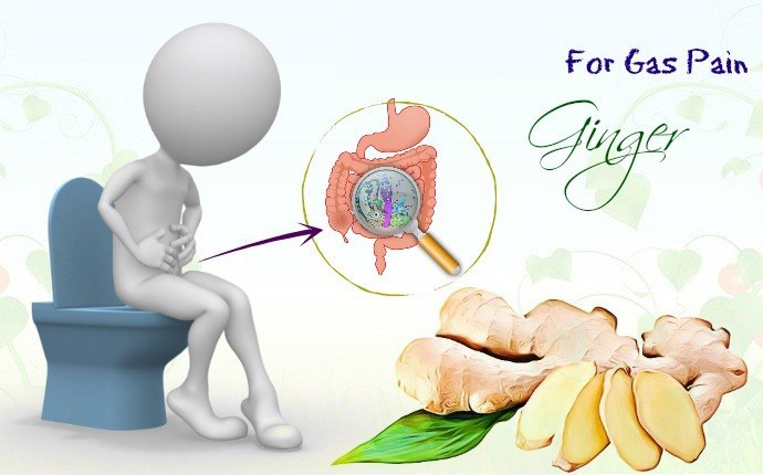 Use ginger as a remedy for gas pains