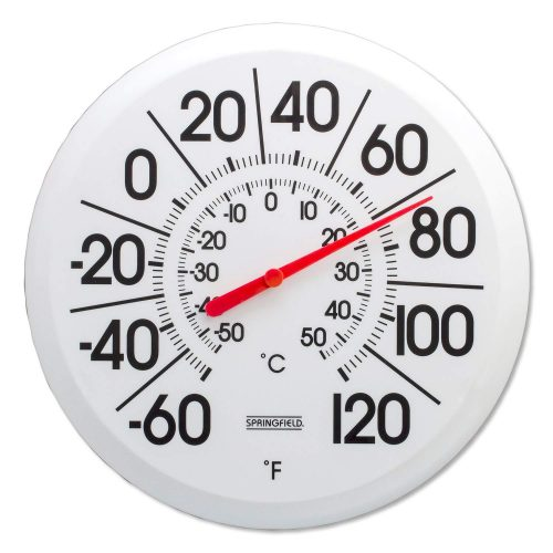 Springfield Big and Bold Low Profile Patio Thermometer - Best Outdoor Thermometers