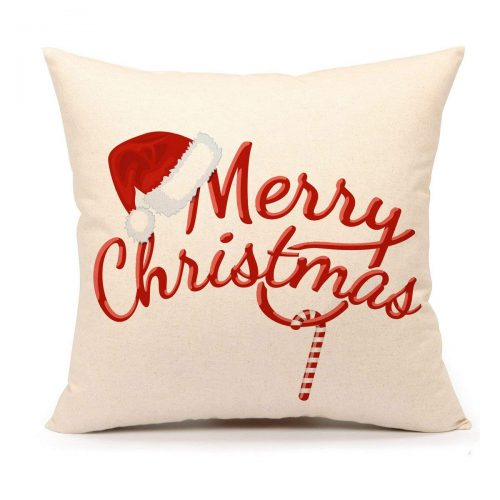 Red Merry Christmas Pillow Cover - Christmas Pillow Covers